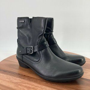 Rockport Womens Short Boots Black Leather Hydro